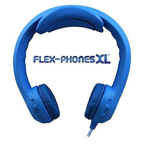Flex-PhonesXL (Blue) - Indestructible, Single-Construction Headphones for Teens by Hamilton Buhl