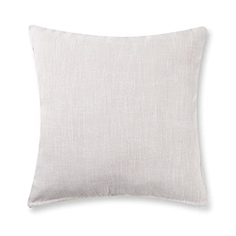 baibu Solid Throw Pillow Cover (12 Colors and 6 Sizes) Decor Cushion Cover for Sofa Ivory White 16x16