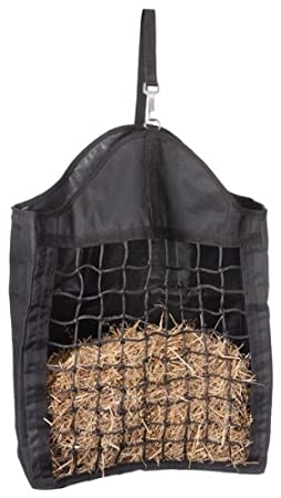 Tough 1 Nylon Hay Tote with Net Front, Black JT International 72-1601-2-0
