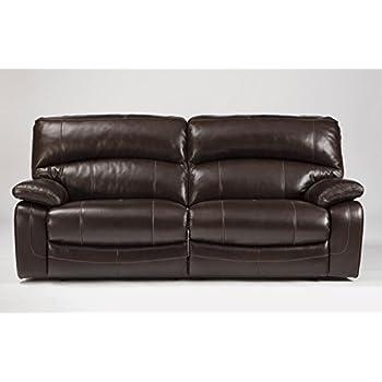 Ashley Furniture Signature Design - Damacio Manual Recliner Sofa - 1 Pull Reclining - Leather interior  sc 1 st  Amazon.com & Amazon.com: Ashley Furniture Signature Design - Damacio Manual ... islam-shia.org