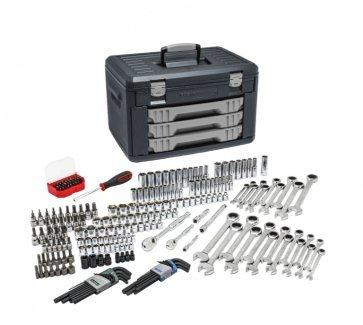 GearWrench 80944 232 Piece Mechanics Tool Set in 3 Drawer Storage Box