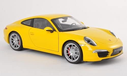 47732 Welly Porsche 911 Typ 991 Modellauto PKW ab 2011 gelb 1:39 NEU