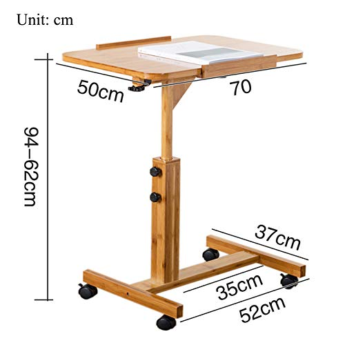 LIULIFE Adjustable Stand Deak Mobile Laptop Computer Desk Workstation Living Room Bedroom Bedside Table,5070cm by LIULIFE (Image #6)