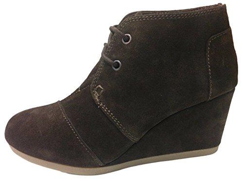 Toms Women's Desert Wedge Chocolate Brown Suede Boot (8)