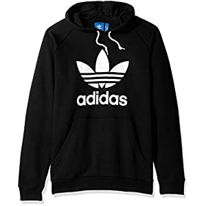 adidas Originals Men's Outerwear Trefoil Hoodie, Black, Large