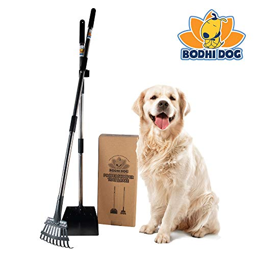 "Bodhi Dog New and Improved 42.9"" Adjustable Metal Pooper Scooper 