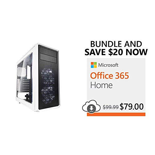 Fractal Design Focus G – Mid Tower Computer Case + $20 Off Microsoft Office 365 Home with Auto-Renew