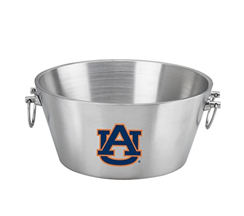 NCAA Auburn Tigers Doublewall Insulated Stainless Steel Party Tub, 15-Inch