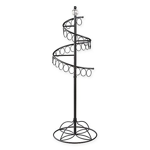 Fashionable Spinning Tabletop Scarf Rack in Black - 13.75'' L x 13.75'' W x 40'' H by BBB