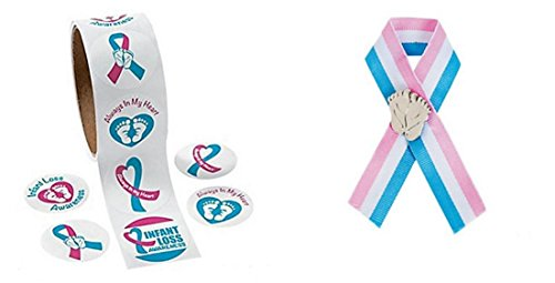 100 Infant Loss Awareness Stickers And One Infant Loss Ribbon And Pin. Show Your Support]()