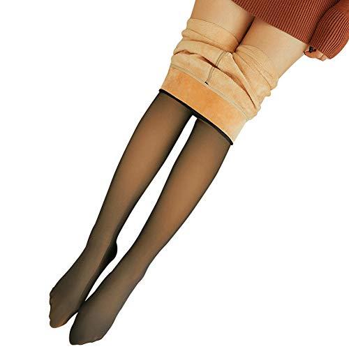 Feeilty Doorzichtige warme fleecepanty, slim stretch, geschikt voor dames in de winter