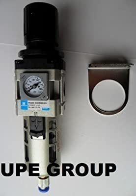 "3/8"" Air Pressure Regulator In line for Compressed Air Compressor w/ Gauge"