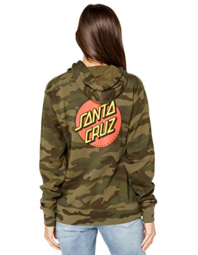 Santa Cruz Women's Classic Dot Hoody,Medium,Forest - Pacific Camo