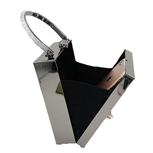 Prom for Wedding Bag Clutch Handbag Box Model Bag Bag White Fashion Shoulder Women Evening Acrylic Evening P1qH4H