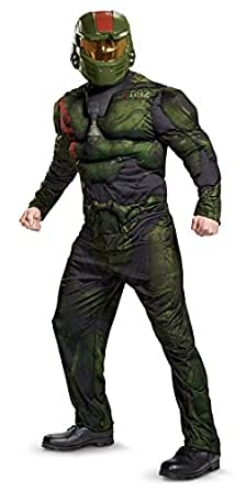 Disguise Men's Halo Wars 2 Jerome Muscle Adult Costume, Green, Medium