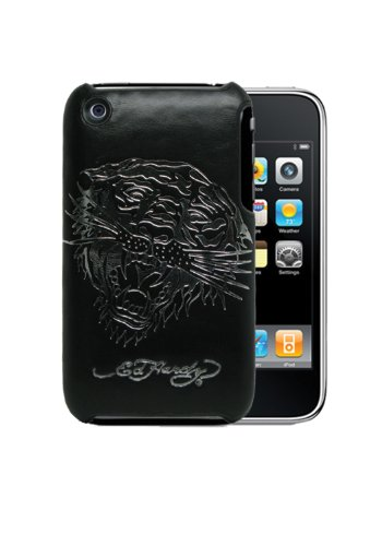 - Executive Ed Hardy Slim Style Faceplate for iPhone 3G/3GS - Tiger with Silver Foil - Black