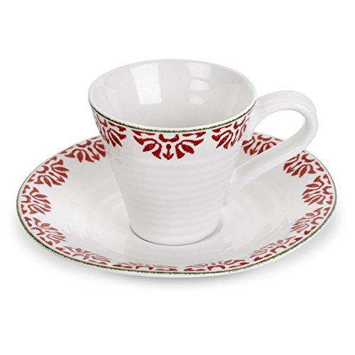 Portmeirion Sophie Conran Christmas Espresso Cup & Saucer Christmas Star -