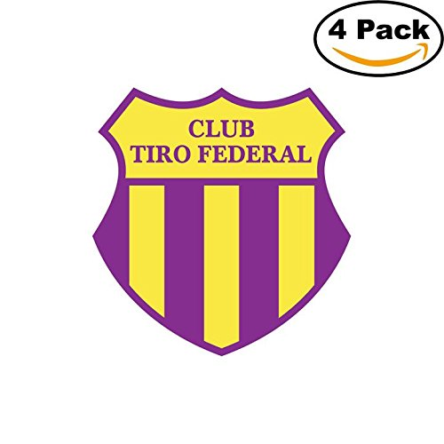 fan products of Club Tiro Federal de Bahia Blanca Argentina Soccer Football Club FC 4 Stickers Car Bumper Window Sticker Decal 4X4