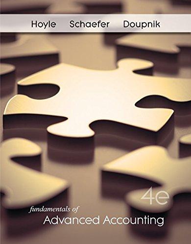 Fundamentals of Advanced Accounting, 4th Edition