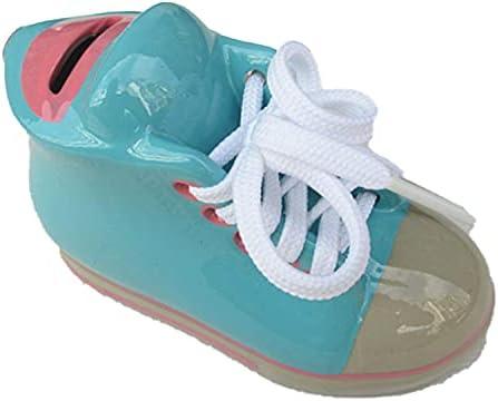 Mini keramische kleine schoenen spaarvarken creatieve schoenen styling thuis woonkamer kamerKeramische schoenen piggy banklichtblauw