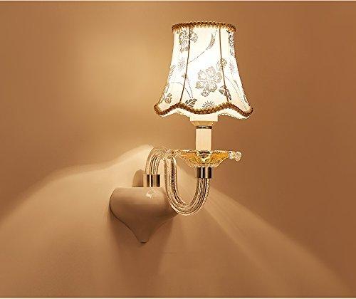 BDYJY   Simple European Style Retro Rural Schlafzimmer Nachttischlampe Treppen Spiegel Frontleuchten Nachttischlampe (Farbe    2)