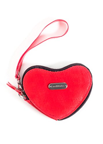 Landfill Dzine Recycled Heart Coin Purse Red