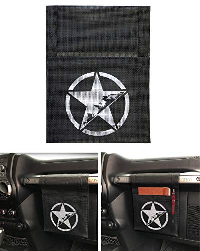 Rorex Jeep Wrangler Jk,Jl,Tj,Lj, Liberty, Accessories, Hanging Storage/Organizer Grab Bag Pouch. Jeep Star ()