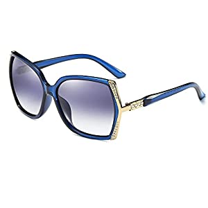 Morpho Diana Women's Fashion Fashion Wayfarer Sunglasses 100% Polarized UV Protection (blue, 70)