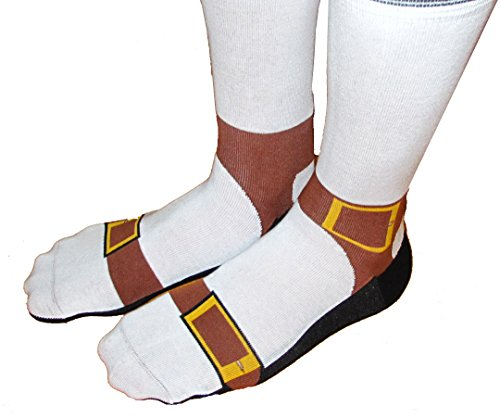 Sandal Socks - Silly Socks Look Like You're Wearing Sandals and Sox ()