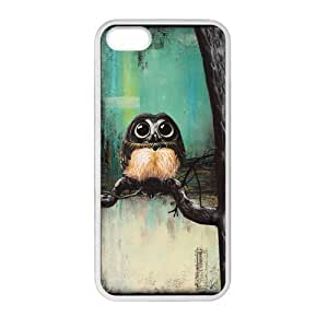 lintao diy Get Your Own Style Of Owl custom TPU Cover Case For iPhone5 iPhone5S(Laser Technology)