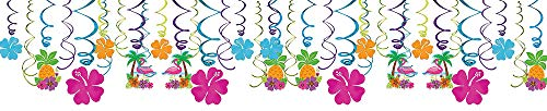 Amscan Summer Luau Party Foil Swirl Decorating Kit -