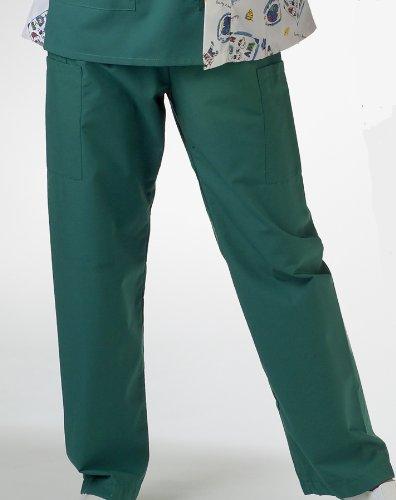 (Medline AngelStat Cargo Pocket Scrub Pants - Jade, Size Large; Length Long - Model)