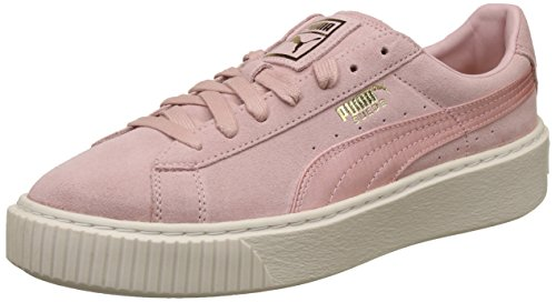 Satin Puma Baskets Suede Platform Femmes Rose EEq7Uvw