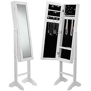 Amazon Com Beautify Mirrored Jewelry Bedroom Armoire