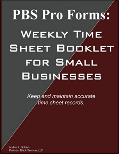 pbs pro forms weekly time sheet booklet for small businesses