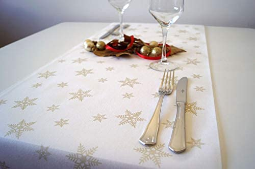 chiner - Rollo Mantel Camino de Mesa Newtex Navidad (Blanco ...