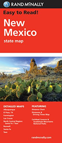 Easy To Read: New Mexico State Map (Gazetteer Mexico New)