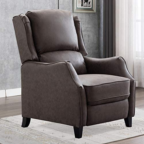 CANMOV Chair Recliner, Easy to Push Back Mechanism Recliner Chair, Taupe