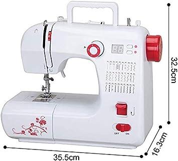 Máquina de coser eléctrica, 30 tipos de puntadas, hilo doble, 2 velocidades, pantalla LED, con pedal del prensatelas accesorios mini-kit: Amazon.es: Hogar