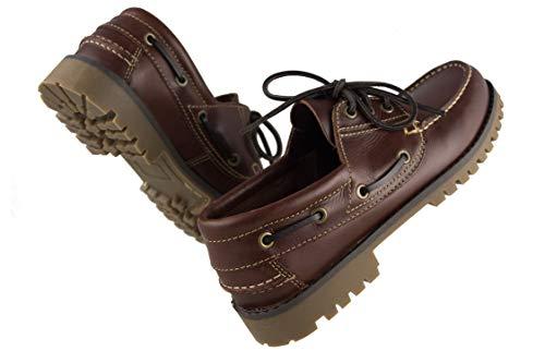 Claro Marron Hombre de para Náutico Piel Tallas Zapato Náutico Grandes Hombre Zerimar para w7qPgBc1cf