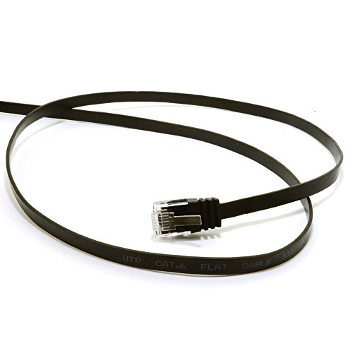 kenable flat cat6 ethernet lan patch cable low profile. Black Bedroom Furniture Sets. Home Design Ideas