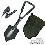 SE 8791FSP Emergency Tri-Fold Serrated Survival Shovel