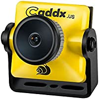 FPV Camera, Caddx Turbo micro SDR1 FPV Came 1/2.8 SONY Exmor-R 1200TVL 2.1mm IR Blocked NTSC DC 5V-40V Wide Voltage for FPV Racing Drone, 5.5g, Yellow