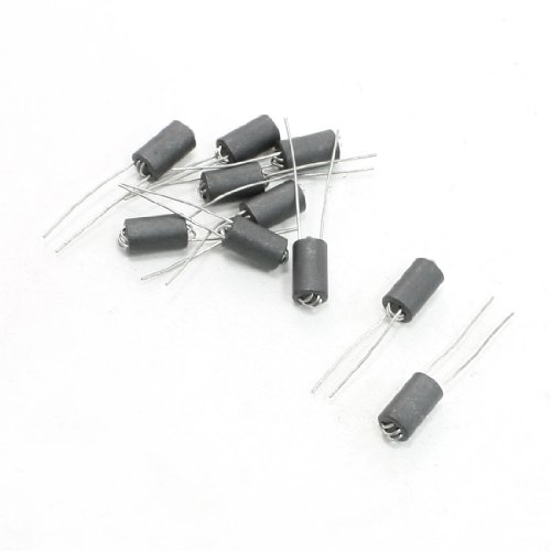 Uxcell a13062800ux1044 6 mm x 10 mm x 0.8 mm Axial Lead 6 Channel Ferrite Beads Inductors 10 Piece
