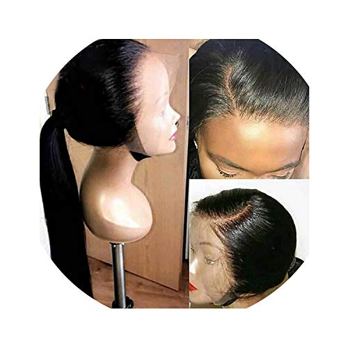Carrie Human Hair Full Lace Wigs Pre Plucked Natural Hairline With Baby Hair Straight Brazilian Remy Hair Wigs Bleached Knots,8Inches,130%