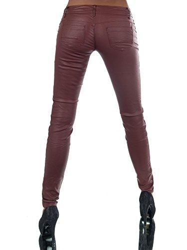 Burdeos Skinny para Básico Diva Vaqueros Mujer Jeans wEY6p6