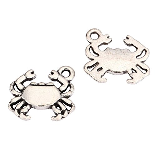 20 x King Crab Charms 17x13mm Antique Silver Tone for Bracelets Necklaces Earrings #mcz1021
