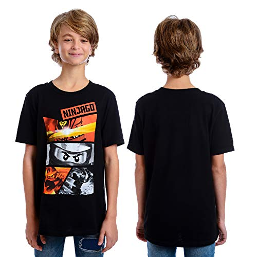 IML LEGO Boys' Ninjago Little T-Shirt, Black, 4 ()