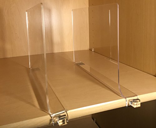 Acrylic Shelf Divider With Hook Pack Of 2 By Slideme Perfect Shelf Dividers To Organize