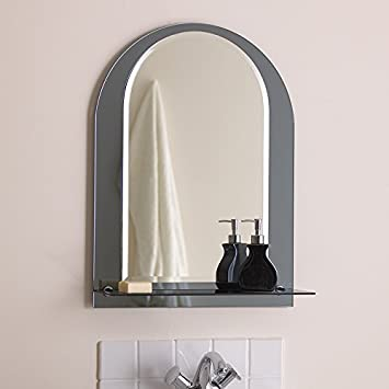 Arched Bathroom Mirror Amazoncouk Kitchen Home